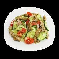 Салат овощной со свининой