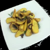 Картофельные дольки по деревенски с грибами