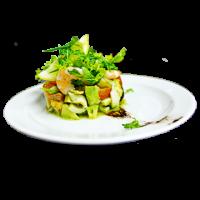 Салат с морепродуктами и соусом Песто